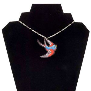 DollyCool Blue Swallows Necklace